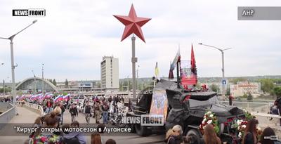 «Кого хоронят?»: соцсети высмеяли «катафалк» российского байкера «Хирурга»