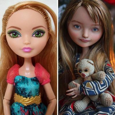 """Украинская художница """"очеловечивает"""" кукол Барби"""
