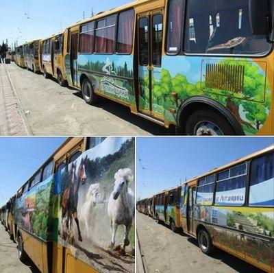 Парад школьных автобусов состоялся на Луганщине
