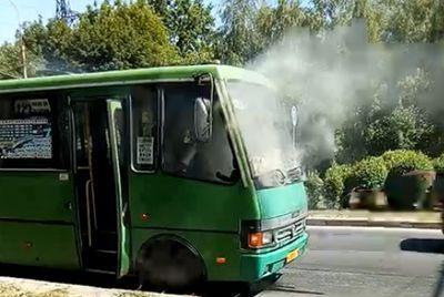 Соцсети: задымился автобус Макеева-Донецк, в котором были люди