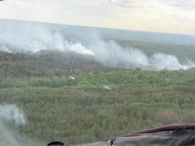 В Чернобыле так и не потушили пожар. Дым несет на Киев
