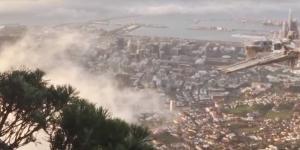 """""""Стеклянная"""" аномалия: в небе над Кейптауном появился город-призрак - кадры"""