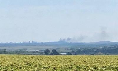 В районе Донецкого аэропорта произошел взрыв