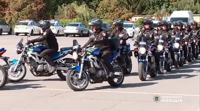 В Киеве появились патрульные-байкеры. ВИДЕО