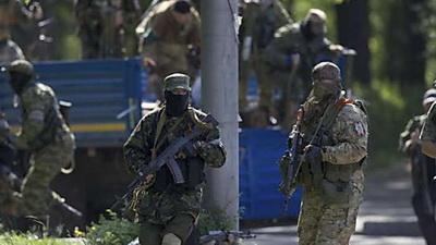 В оккупированном Луганске наемники укрепляют центр города