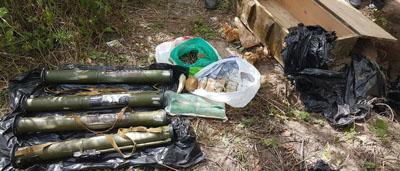 Гранатометы, пластид, патроны: В Киеве нашли тайник оружия из Донбасса