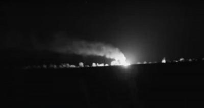 Пожар оставил оккупантов РФ без оружия: ВСУ разнесли в пух и прах склад боеприпасов врага на Донбассе. ВИДЕО