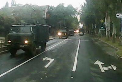 В Донецке была замечена колонна военной техники боевиков «ДНР»