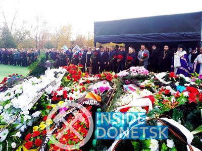 Террористы из всех округов оккупированного Крыма, Донецка, Луганска и России приехали к могиле Захарченко