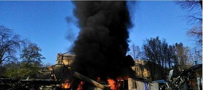 В Донецке вновь горел дельфинарий «Немо»