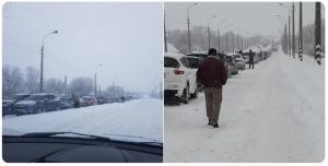 Сотни пеших и километры машин: люди мерзнут в гигантских очередях на постах боевиков в Горловке и Еленовке