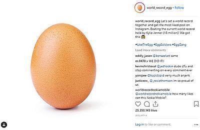Новым рекордсменом Instagram стало яйцо