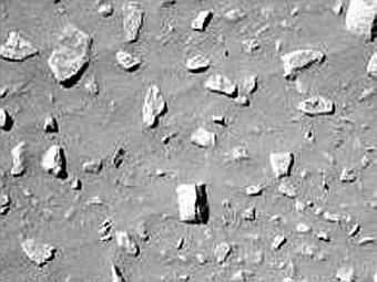 На фотографии камни размещались примерно на равном расстоянии друг от друга.