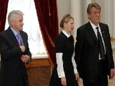 Ющенко тимошенко и литвин едут в