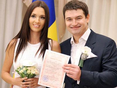 Новоиспеченная семья: Лиза и Андрей Ющенко.