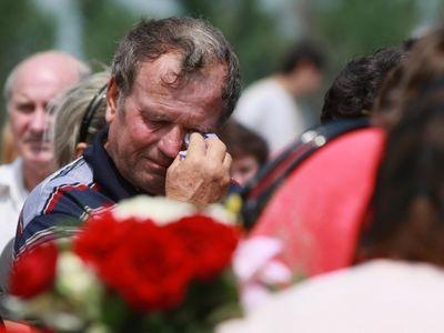 похороны шахтеров в Донбассе