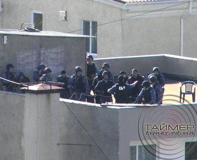 штурм убийц милиционеров в Одессе