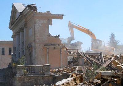 В Севастополе снесли здание Первой городской больницы.