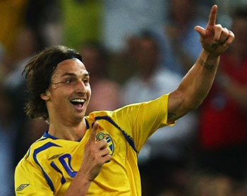Главная ударная сила сборной Швеции - 30-летний форвард Милана Златан Ибрагимович.
