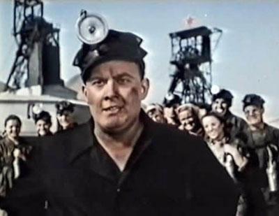 Таким Евгений Моргунов был в фильме Донецкие шахтеры.