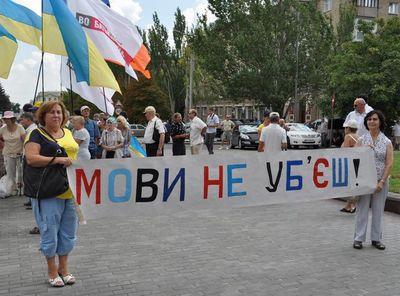 митинг в Донецке - русский язык стал региональным
