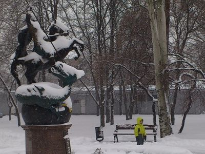 Донецк в снегу