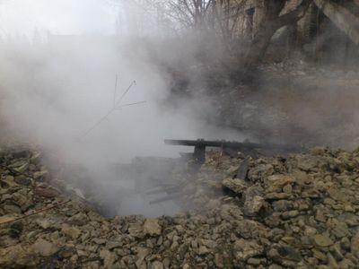 пожар на закрытой шахте в Торезе
